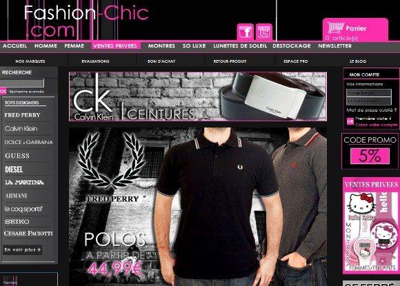 Code de réduction 10% de remise chez www.fashion-chic.com