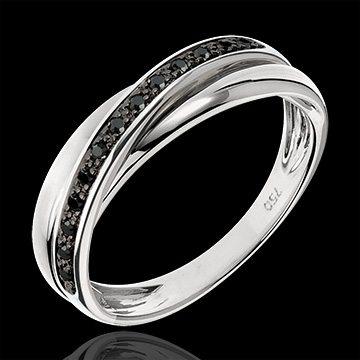 anneau avec diamants noirs