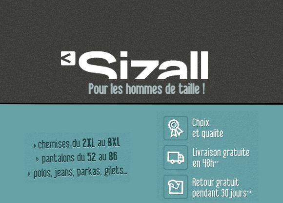 Code Promo Sizall : Offre découverte !