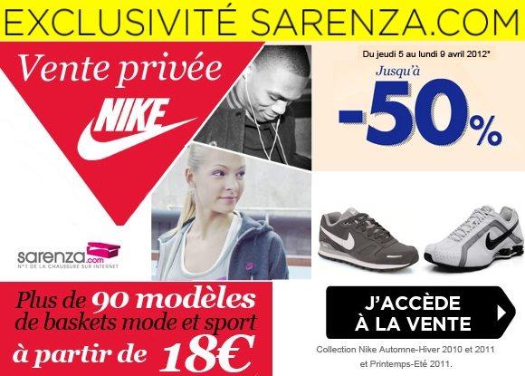 Vente Privée de Baskets Nike chez Sarenza !