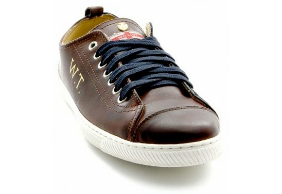 Chaussures marron et bleu marine Williot