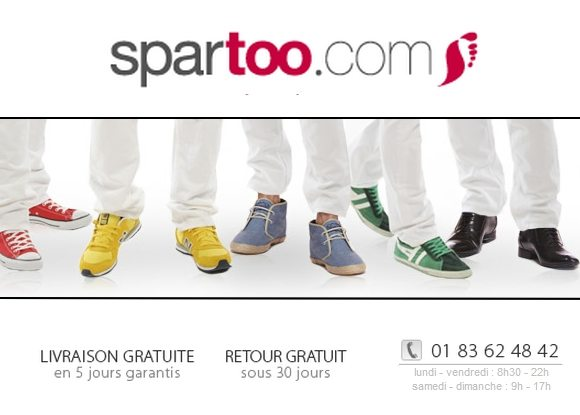 Codes Promos Spartoo Juin 2012