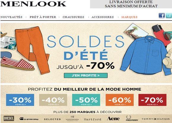 Soldes Menlook Ete 2012