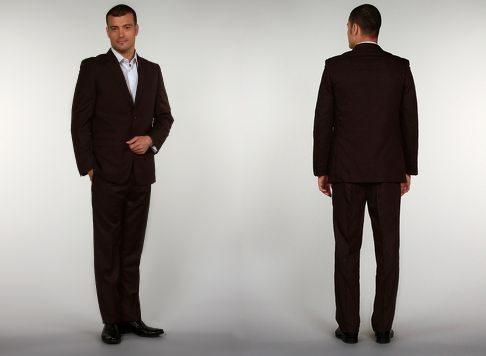 Costume homme 2 pièces marron chocolat