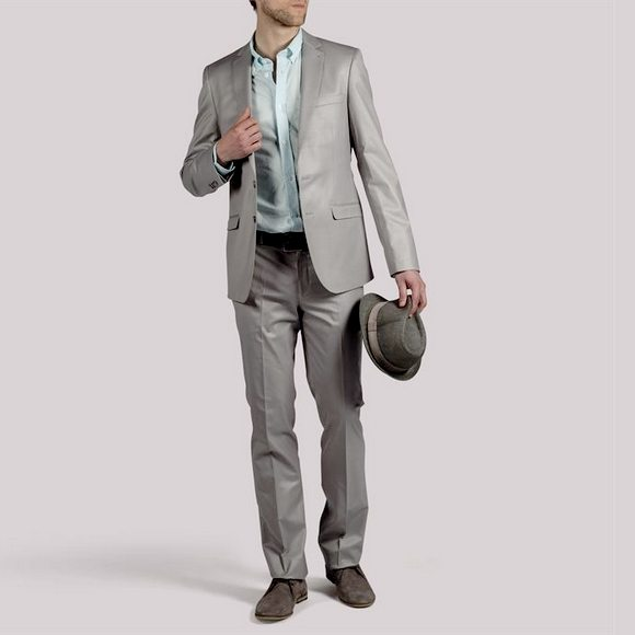 Costume homme gris clair