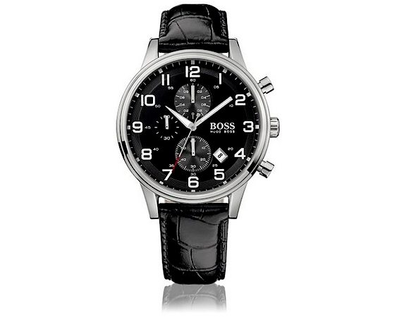 Montre Hugo Boss Black Homme Aviateur HB2006 Chronographe