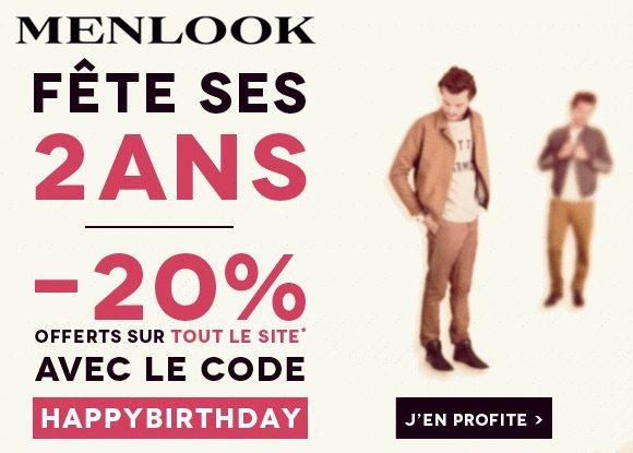 Anniversaire Menlook : Célébrez avec nous les 2 ans de la boutique !