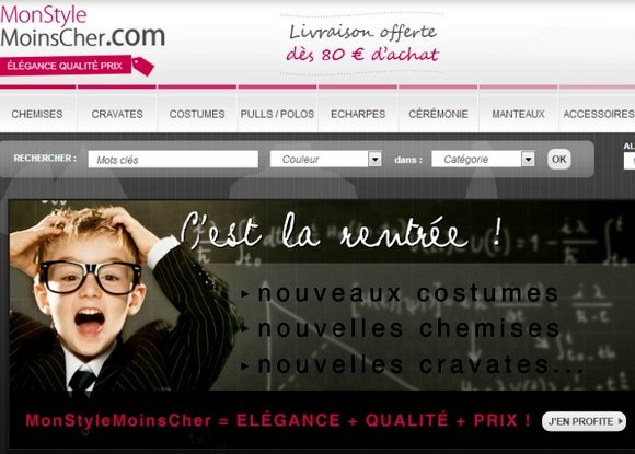 code promo mon style moins cher septembre octobre 2012 mode homme blog monsieur mode. Black Bedroom Furniture Sets. Home Design Ideas
