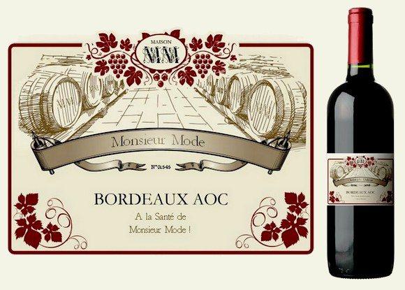 Idée Cadeau  La bouteille de vin personnalisée  Mode