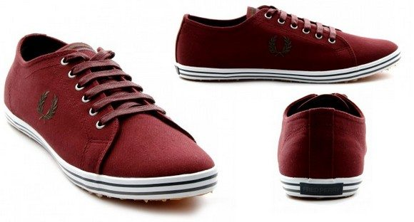 Chaussures Fred Perry rouge bordeaux