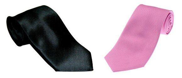 Cravate unie en soie