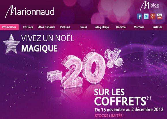 Code Promo Marionnaud Novembre 2012