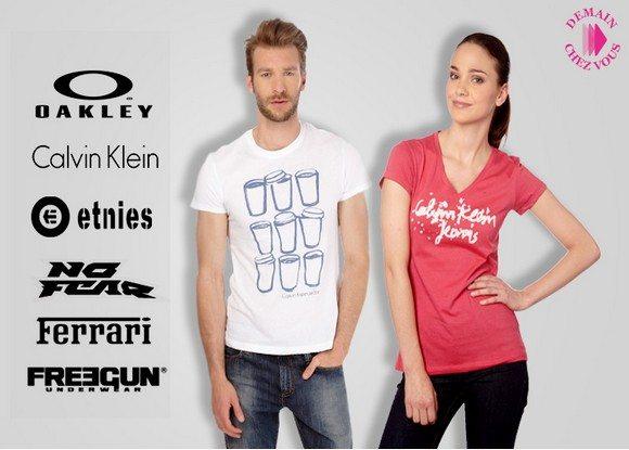 Vente privée de t-shirts de marque