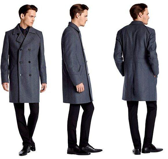 Manteau en laine pour homme