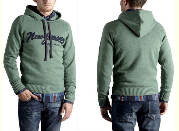 Pull capuche homme