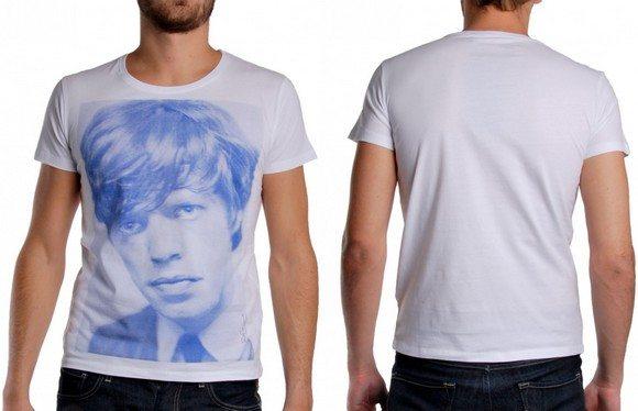 T-shirt blanc Mick Jagger