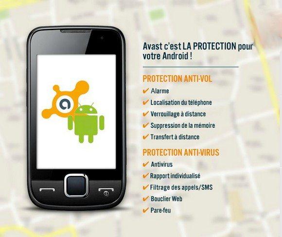 Antivol antivirus téléphone portable Android