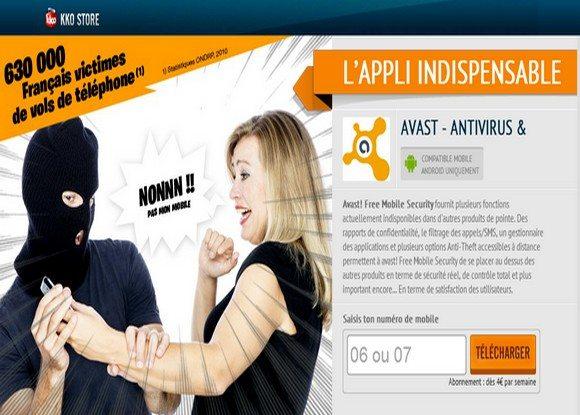 L'antivirus et antivol pour téléphone portable Avast