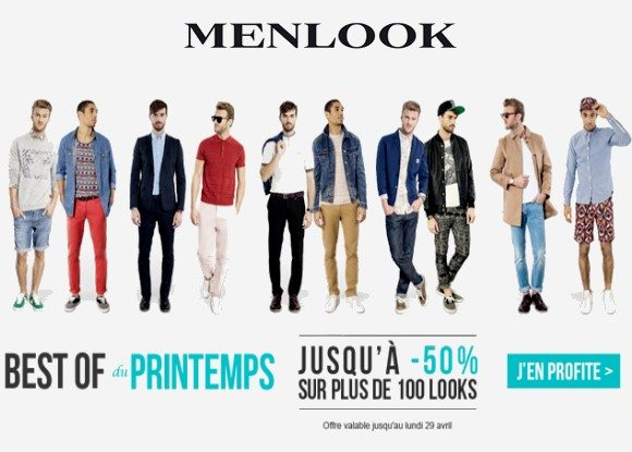 -50% sur le Best Of Du Printemps Menlook