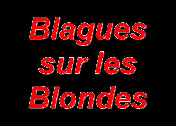 Blagues sur les blondes