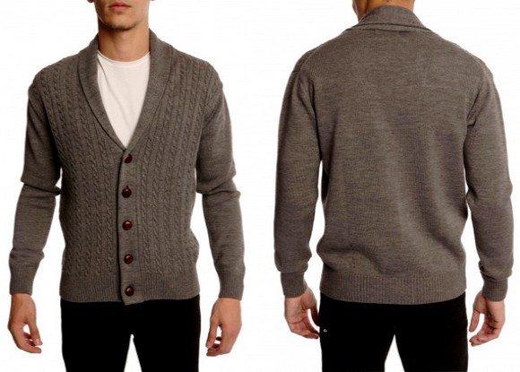 Cardigan gris en laine Menlook Label