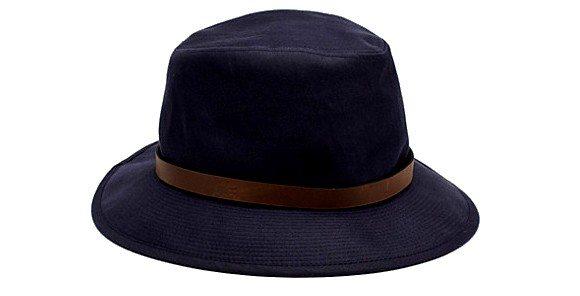 Chapeau Lacoste en gabardine et cuir