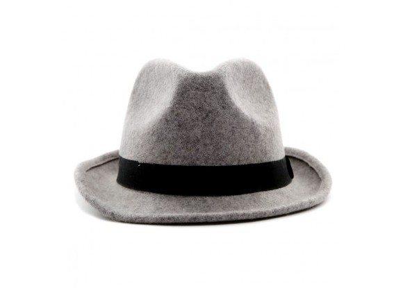 Chapeau gris en laine Selected