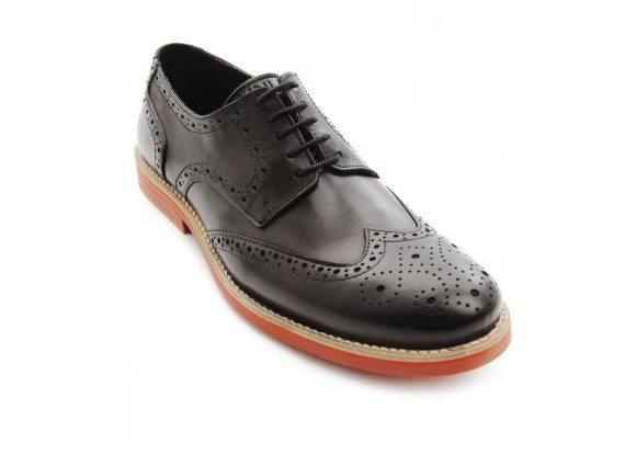 Chaussures Derby noire à semelle rouge brique Menlook Label