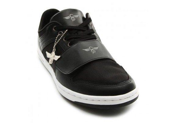Chaussures basses noires en cuir et tissu Creative Recreation