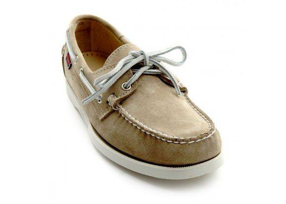 Chaussures bateaux beiges Sebago Docksides
