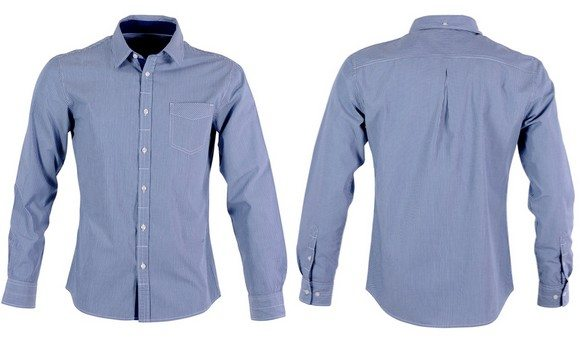 Chemise cintrée bleue à rayures Esprit