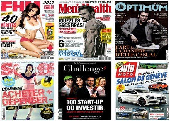 Vente Privée de Magazines pour hommes