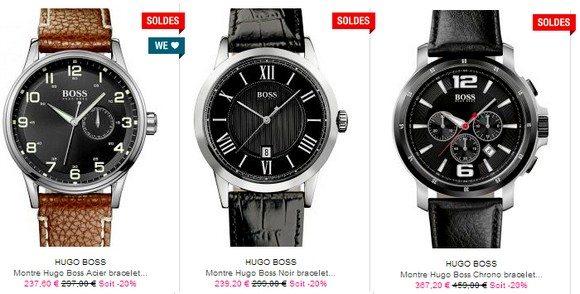 Montres Hugo Boss en soldes