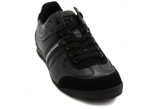 Sneakers noires en cuir Hugo Boss Orange