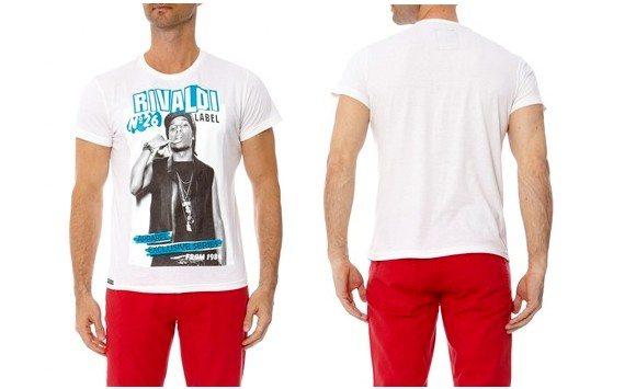 T-shirt blanc Rivaldi homme