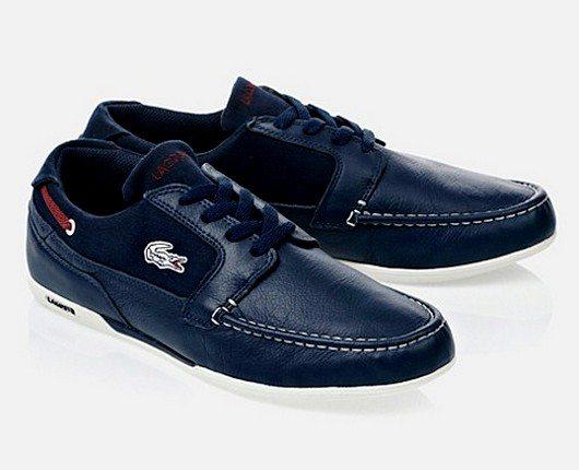 Chaussures bateau Lacoste en soldes
