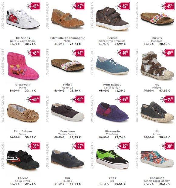 Chaussures enfant fille en promo