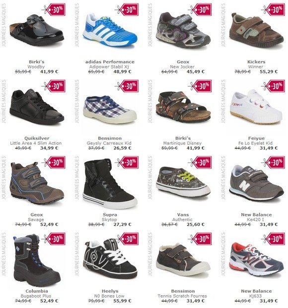 Chaussures enfant garçon en promo