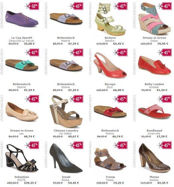 Chaussures femme en promotion