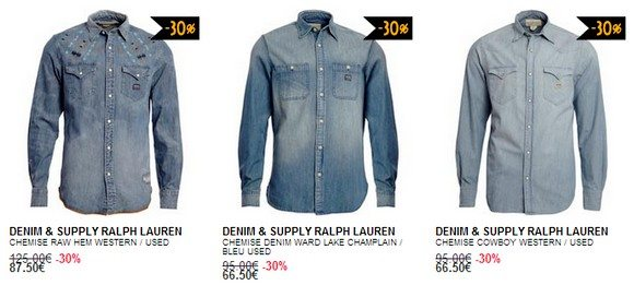Chemise en jean Ralph Lauren