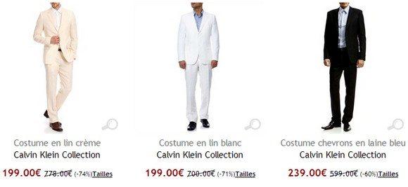 Costume homme Calvin Klein