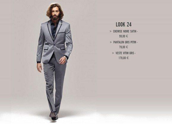 Costume pour homme gris