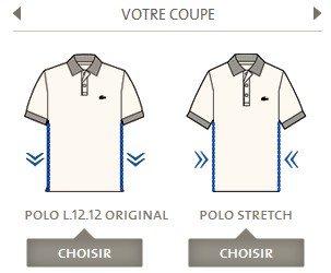 Coupe polo Lacoste