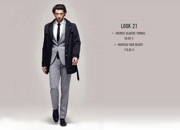 Homme en costume gris