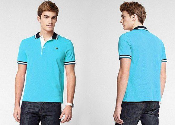 Polo Lacoste bleu turquoise