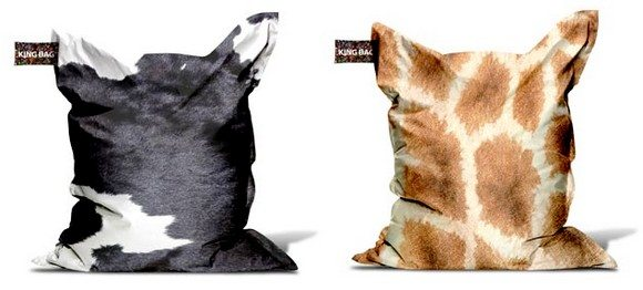 Pouf animaux vache girafe