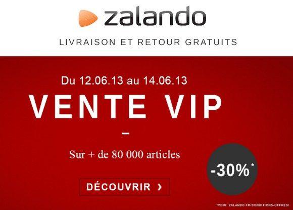 Vente Privée VIP chez Zalando