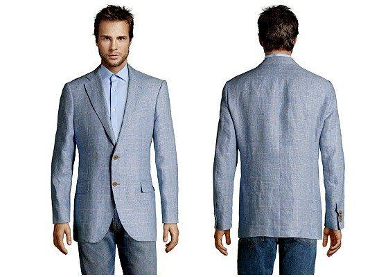 Veste de costume en lin pour homme