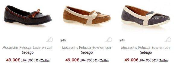Chaussures Sebago femme pas cher