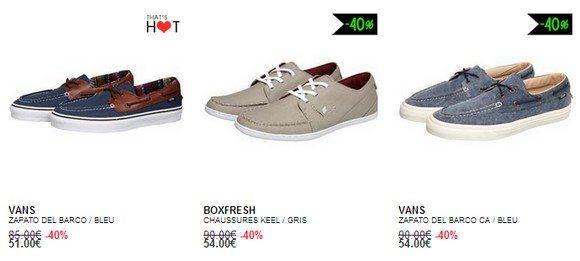 Chaussures bateau en promotion